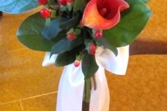 aisle flowers-calla